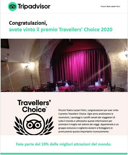 Popup Travellers choice 2020